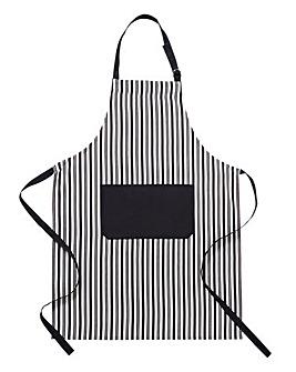 Classic Black & White Stripe Apron