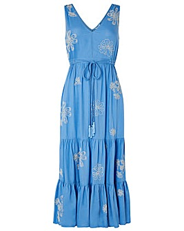 Monsoon Cersei Ecovero Embroidered Dress
