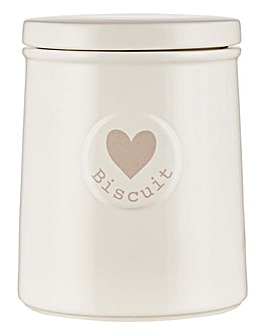 Hearts Biscuit Canister