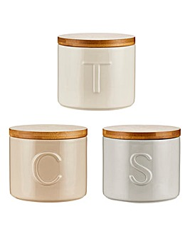 Country Luxe Tea, Coffee, Sugar Set