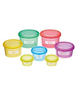 Set of 7 Healthy Eating Portion Control Pots