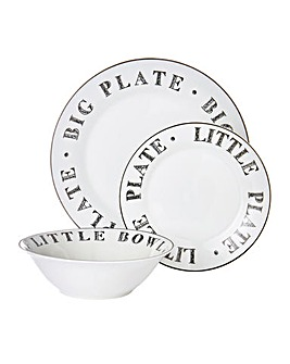Alfabeto 12 Piece Dinner Set