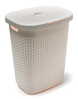 Addis 50L Rattan Effect Laundry Bin