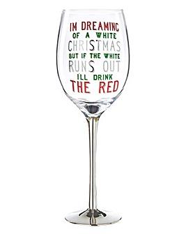 Festive Christmas Wine Glass