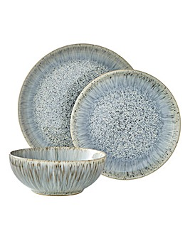 Denby Halo Grey Speckle 12 Piece Dinnerware Set