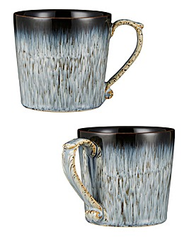 Halo Grey Speckle 2 Piece Mug Set