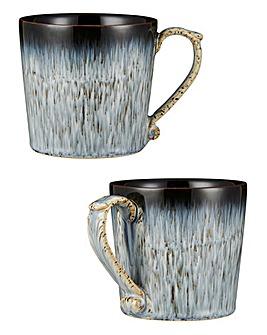 Denby Halo Grey Speckle 2 Piece Mug Set