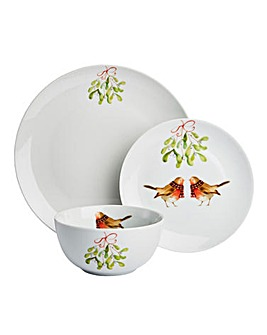 Mistletoe Kiss 12 Piece Dinner Set