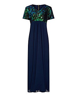 Mela London Curve Sequin Top Maxi Dress
