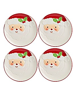 Santa Side Plate Set of 4