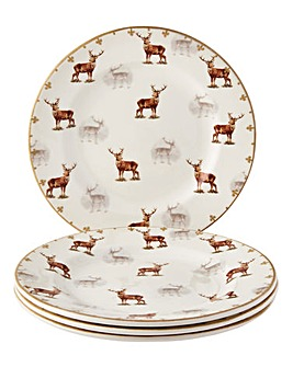 Glen Lodge Stag Set Of 4 Side Plates