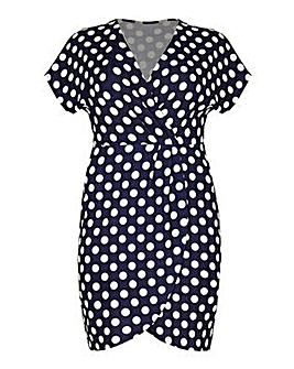 Mela London Curve Polka Dot Wrap Effect