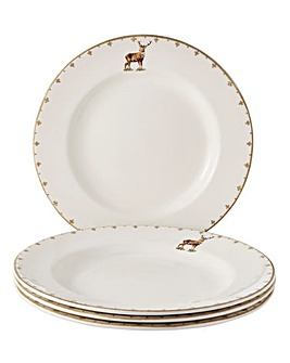 Glen Lodge Stag Set of 4 Dinner Plates