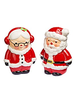 Mr & Mrs Claus Salt and Pepper Set