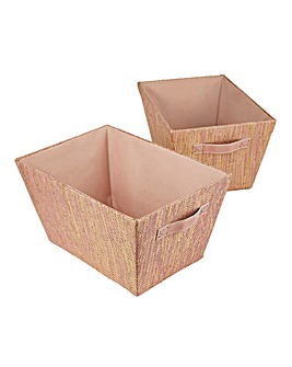 Glitz Set of 2 Storage Boxes