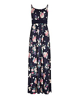 Yumi Curves Spot And Floral Maxi Dress