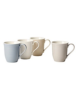 Vivo Colour Loop Set Of 4 Mugs
