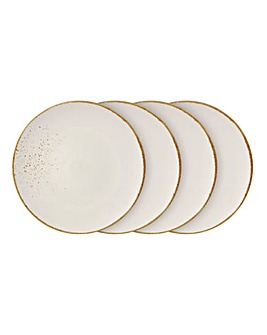 Vivo Stoneware Set Of 4 Dinner Plates