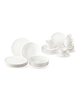 Vivo Fresh White 30 Piece Dinner Set