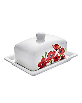 Poppies Butter Dish
