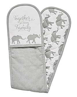 Elephant Family Oven Glove