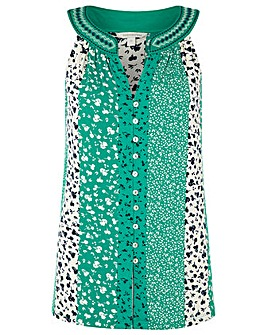 Monsoon Poppy Patch Print Sleeveless Top