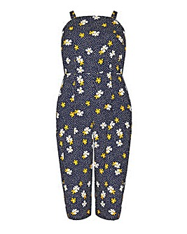 Mela London Curve Daisy Print Spot Jumpsuit