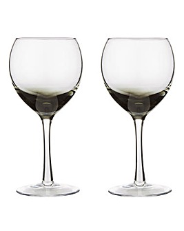 Denby Set of 2 Halo White Wine Glasses