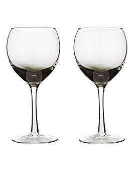 Denby Set of 2 Halo White Wine Glasses