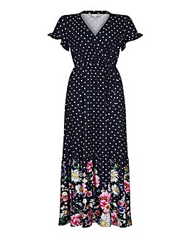 Yumi Curves Daisy And Spot Print Maxi Dr