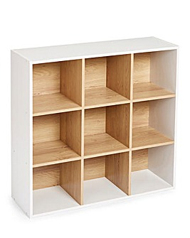 Two Tone Cube Shelves - 9 Cube Unit