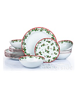 18 Piece Holly Dinner Set