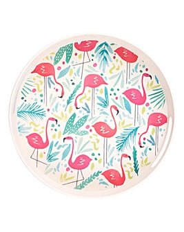 Flamingo Large Round Tray