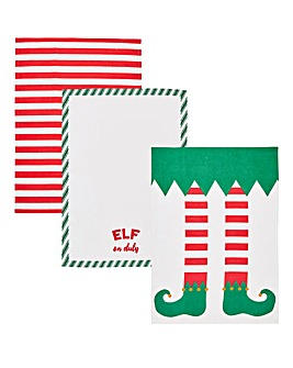 Elf Set of 3 Tea Towels