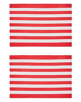 Elf Stripe Set of 2 Placemats