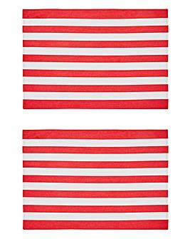 Elf Stripe Set of 2 Placemats