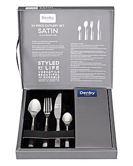 Satin 24 Piece Cutlery Set