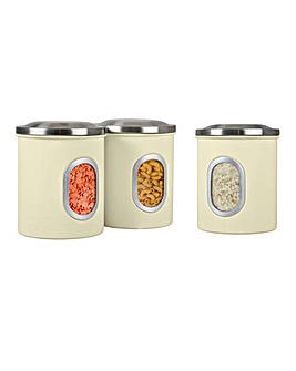 Set of 3 Denby Cream Canisters