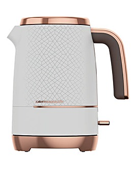 Beko WKM8306W Cosmopolis 1.7L White and Rose Gold Kettle