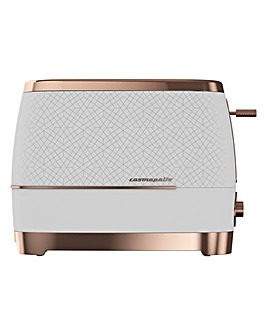 Beko TAM8202B Cosmopolis 2 Slice White and Rose Gold Toaster