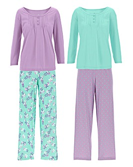 Pretty Secrets 2Pk 3/4 Sleeve PJ Set