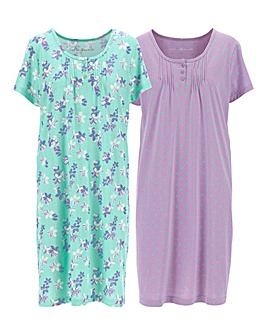 Pretty Secrets 2 Pack Nighties 38in