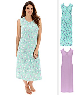 Pretty Secrets 2pk Maxi Chemises 48in
