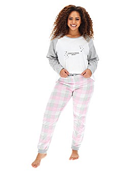 Pretty Secrets Fleece Check Trouser PJ