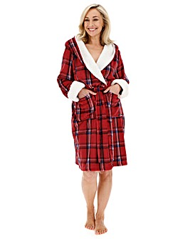 Pretty Secrets Tartan Hooded Gown