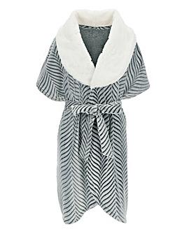 Pretty Secrets Foil Print Wrap Gown