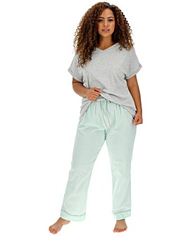 Pretty Lounge Mint Stripe PJ Set