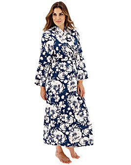 Pretty Secrets Floral Satin Navy Gown