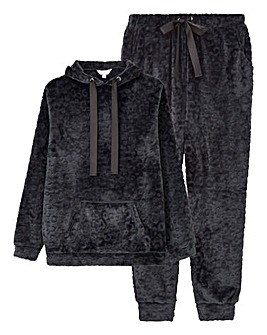 Pretty Lounge Burnout Hooded Set