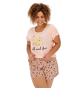 Lion King Leopard Shortie Set